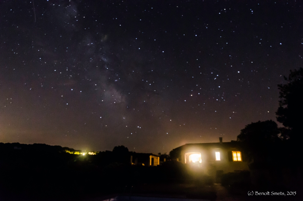 Nightscape in Sardinia, Italy August 2015