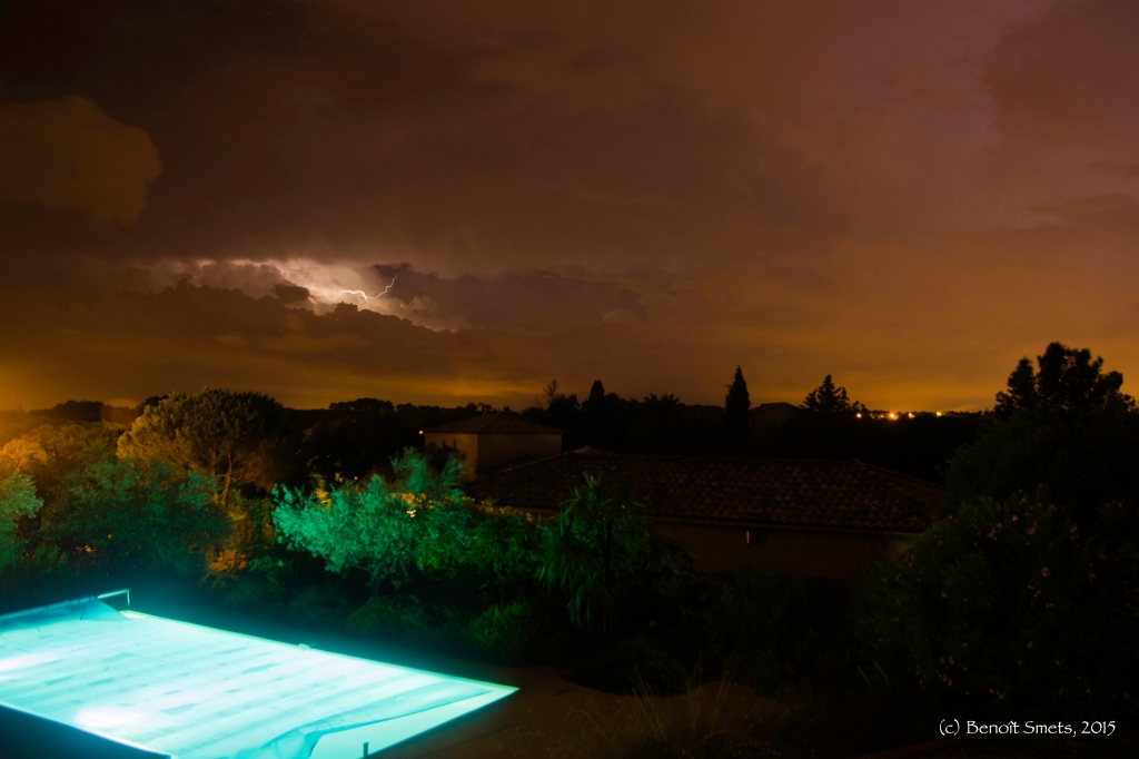 Thunderstorm in Boisseron, Languedoc-Roussillon, France August 2015